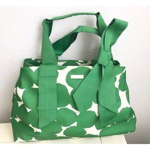 NWOT Emerald Green Print Kate Spade Purse🍀